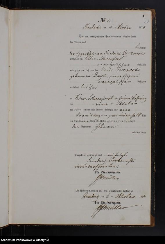 """Obraz z jednostki """"Geburts-Neben-Register Nr 1 - 47"""""""