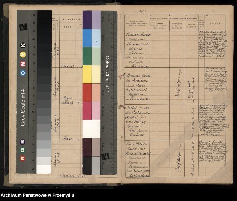 """Obraz z jednostki """"Księga urodzin, tom III 1901-1912 rok"""""""