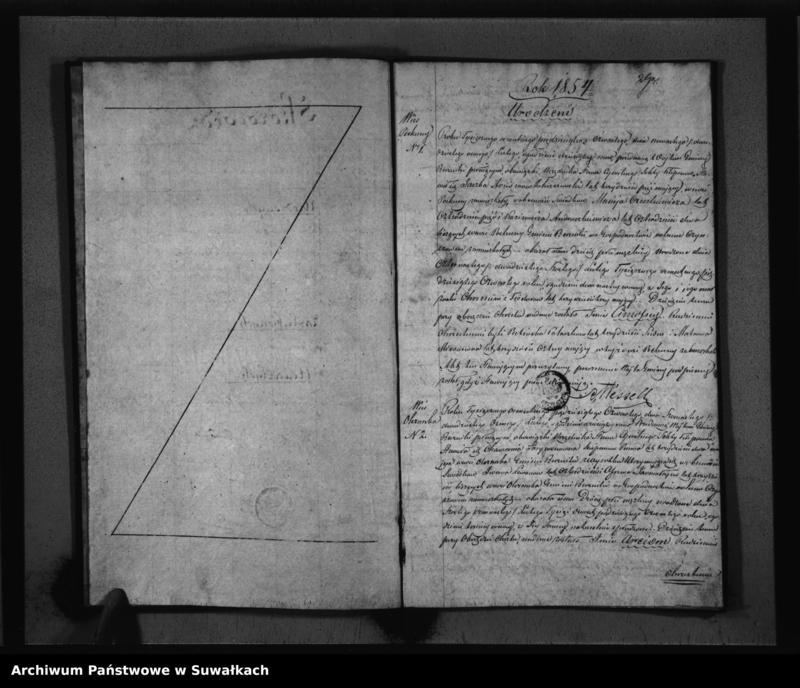 """image.from.unit """"Duplikat Akt Stanu Cywilnego Urodzonych, Zaślubionych i Zmarłych Sekty Filiponów z Gminy Berznickiej na 1854 rok"""""""