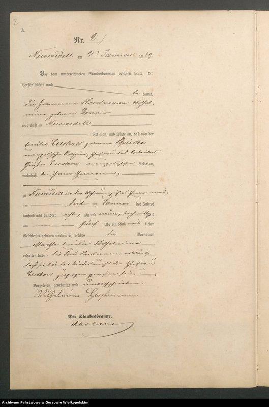 "Obraz z jednostki ""Geburts Register"""