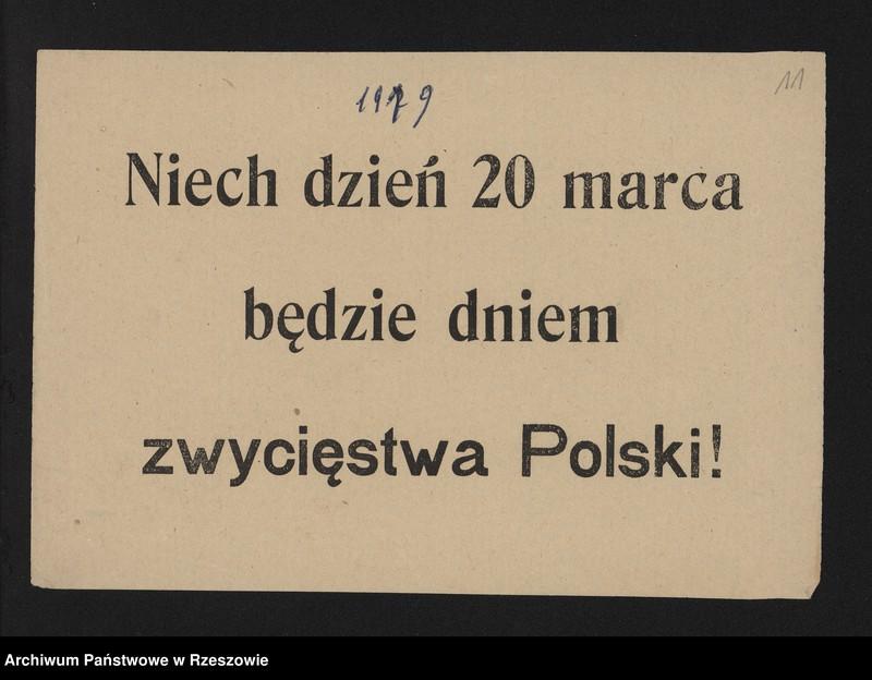 """Obraz 14 z kolekcji """"Powstania Śląskie w zbiorach AP Rzeszów"""""""