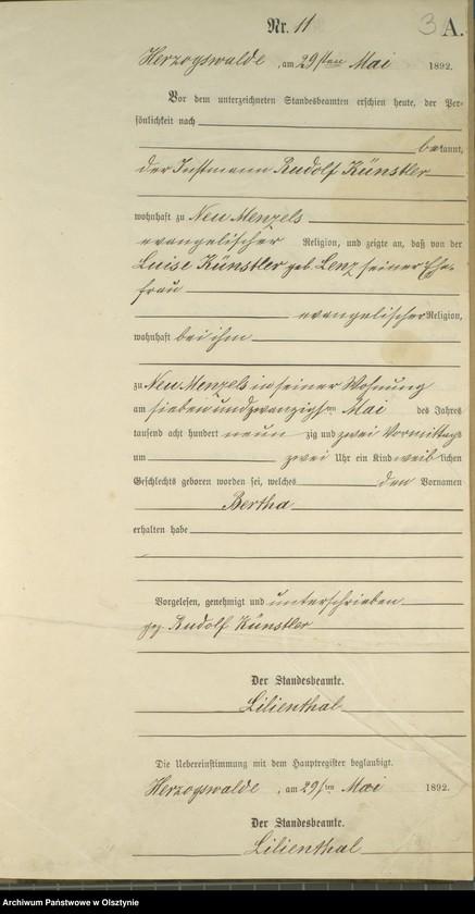 """image.from.unit """"Geburts-Neben-Register Nr 1,11 i 17 /Fragmenty księgi/"""""""