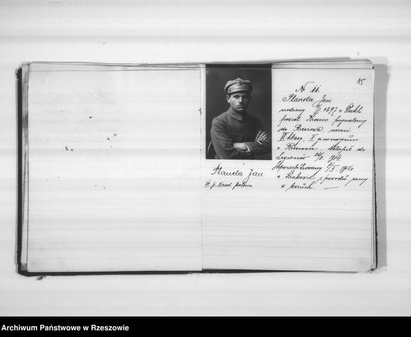 """Obraz 15 z jednostki """"Delegatura Departamentu Wojskowego N.K.W. Rzeszów (album superarbitrowanych Legionistów)."""""""