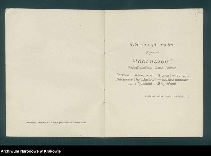 """image.from.unit """"Władysław BEŁDOWSKI, Wspomnienie o Brygadierze (Rok 1914 w Jabłonkowie), Kraków 1922. Nakładem autora"""""""