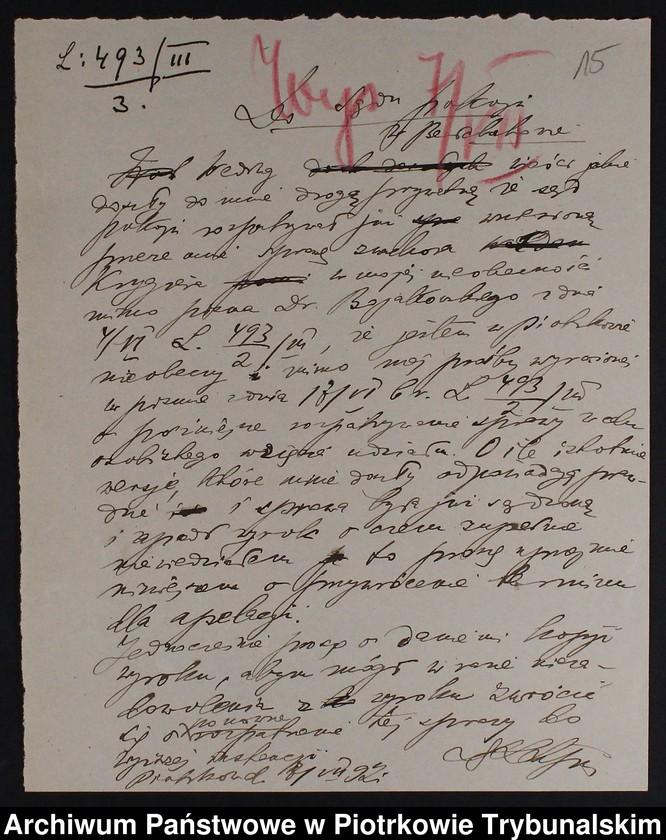 """Obraz 14 z kolekcji """"Nielegalne praktyki medyczne i znachorstwo sto lat temu. Przykład z powiatu piotrkowskiego"""""""