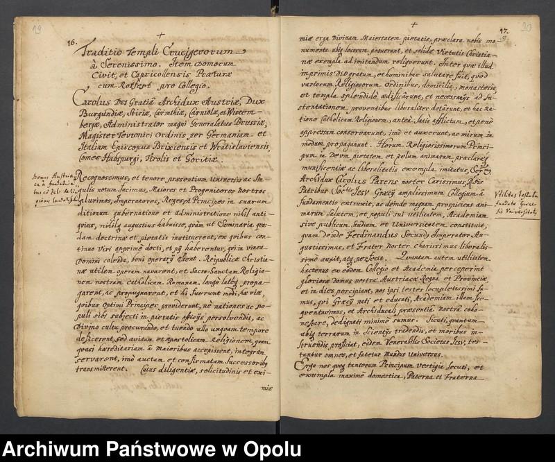 """Obraz 6 z kolekcji """"Księga dokumentów fundacyjnych Kolegium Jezuitów w Nysie"""""""
